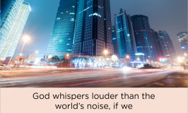 How can we hear God speak in a noisy world? These 5 steps will help you learn to listen for His voice and experience #MoreofGod.