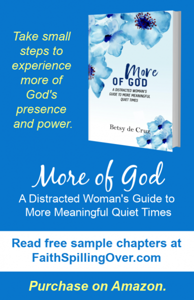 Want to experience more of God's power and presence in your quiet time and all day? Learn how with the book More of God. Read free sample chapters today. #Biblestudy #prayer #prayertips #devotional #MoreofGod