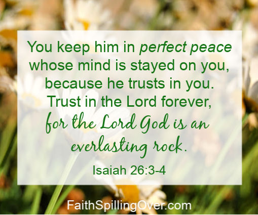 When worry steals our peace, we need a way to overcome #fear and grow our #faith. 3 steps help us shift our focus away from fearful thoughts and towards God.