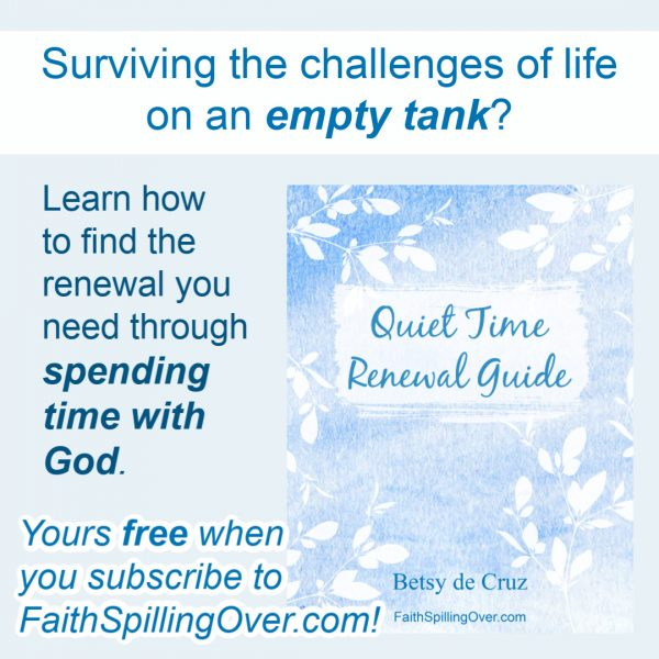Facing the challenges of life on an empty tank? Find the renewal you need through spending time with God. Learn simple Bible study and journaling tips. #Biblestudy #prayer #devotional #journaling #Biblejournaling