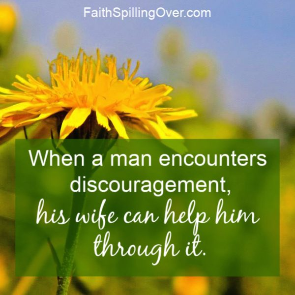 Is your man facing discouragement? These 6 practical tips will show you how to help him through hard times. God can use you to encourage your husband. #marriage #encouragement #marriagetips