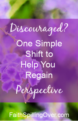 When you're discouraged, it can help to shift your perspective towards God. Looking beyond our problems to see the presence of God renews our #hope and #joy. #encouragement