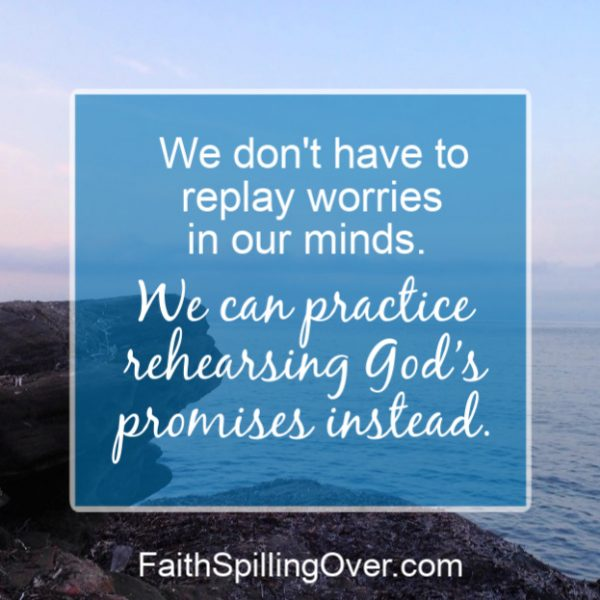 How to combat worry? These 4 small, daily steps will help you practice trusting God and grow your faith muscles. #faith #worry