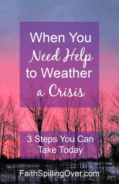 3 Steps can help you weather the crisis if you're feeling scared about the #CoronaVirus. Here's #encouragement to help you remember God's love for you. #inspiration #faithoverfear #faith