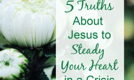 Jesus can steady your heart even when changes overwhelm you. 5 Truths will help you find peace and comfort in the steadfast love of our unchanging Savior.