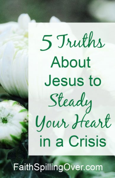 Jesus can steady your heart even when changes overwhelm you. 5 Truths will help you find peace and comfort in the steadfast love of our unchanging Savior. #faith #fear #faithoverfear