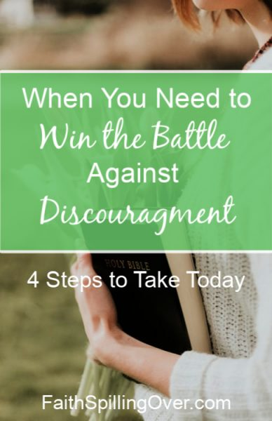 Is Discouragement getting you down? God's Word offers hope and wisdom to help you find joy and peace again. Try these 4 weapons against discouragement.