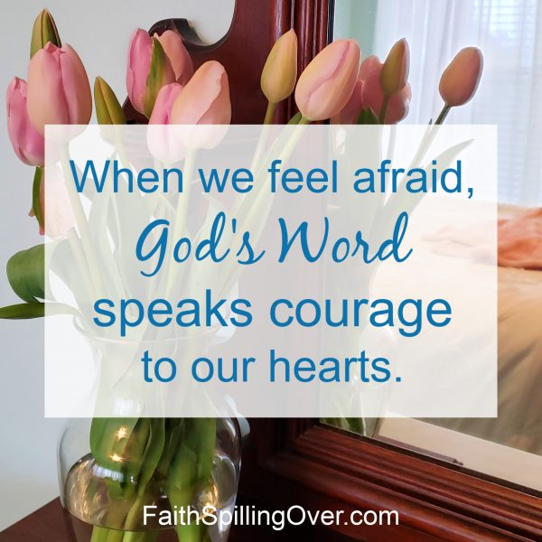 When you feel afraid, God's touch will strengthen you. His Word will calm your fears. 3 truths from Scripture to help you find new courage.