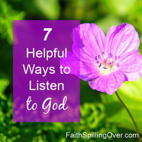 Do you take time to listen to God when you pray? Learning to hear God's voice may sound intimidating, but these 7 steps will help you learn how.