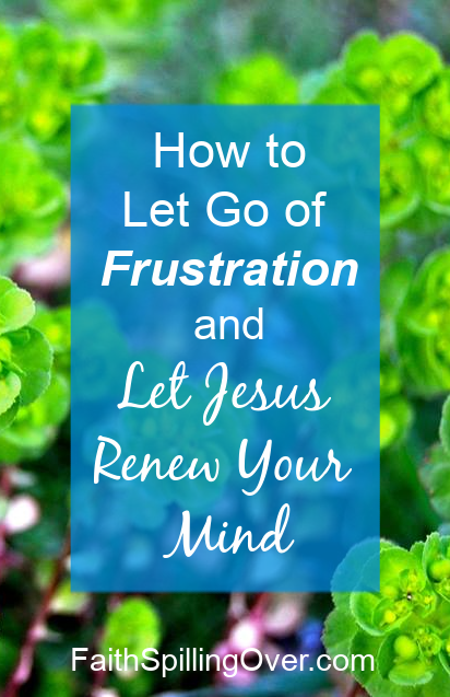 When frustration steals your peace, Jesus can renew your mind and settle your heart.  5 steps will help you feel peaceful and calm again. #renewal #calm #peace