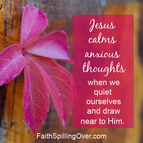 Are anxious thoughts crowding peace out of your mind and heart? Here are 2 ways to find quiet for your soul.